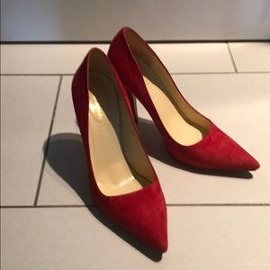 Kate Spade Red Suede Pumps Size 7.5